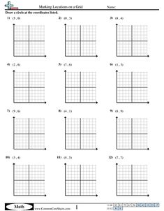 Grid Worksheets - Marking Locations on a Grid worksheet Subtracting Integers Worksheet, Exactly Like You, Christmas Math, Math Worksheets, Problem Solving, Plane, Aircraft, Airplanes