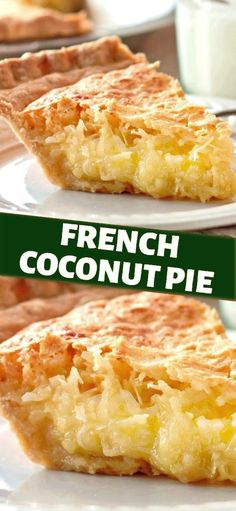 Coconut Recipes, Tart Recipes, Sweet Recipes, Baking Recipes, Best Coconut Pie Recipe, Buttermilk Coconut Pie Recipe, Pineapple Coconut Pie Recipe, Coconut Deserts, Pie Coconut