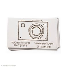 Custom Business Card Stamp - Custom Rubber Stamp - Personalized Stamp - Custom Stamp - Camera, Photo, Photography - BC56 on Etsy, $25.00