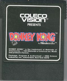 The best Donkey Kong experience in the 80s was on the ColecoVision.