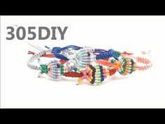 [305DIY]마크라메 심플 베이비피쉬 매듭팔찌만들기, macrame simple babyfish knot bracelets DIY tutorial - YouTube