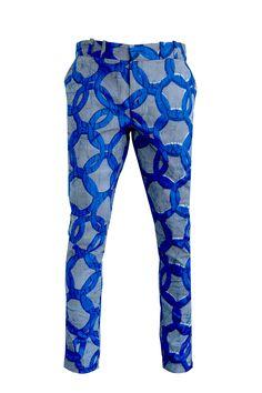 Men's skinny leg trousers - OHEMA OHENE AFRICAN INSPIRED FASHION  - 1