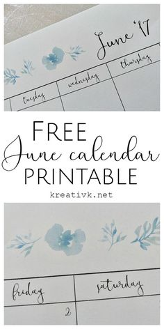 free printable june calendar kreativk.net