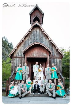 And I finally found the perfect color scheme for the groom and his groomsmen. Taylor would LOVE this and I think the khaki jacket mixed with a teal vest and tie with some dark nice jeans are the winner! #summerswedding2015
