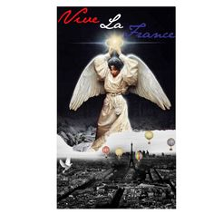 Long Live France by Clardy collage Paris Black Angel