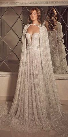 Blue Bridesmaid Dresses Uk, Blue Wedding Dresses, Bridal Dresses, Wedding Dress Cape, Maxi Dresses, Chanel Wedding Dress, A Line Wedding Dress Sweetheart, Mode Outfits, Beautiful Gowns