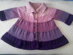 Want a knitted frock pattern with ruffles Source by sommersewing CoatYou can find Ruffles and more on our website.Want a knitte. Crochet Baby Jacket, Baby Sweater Knitting Pattern, Knitted Baby Cardigan, Baby Pullover, Crochet Coat, Baby Knitting Patterns, Frock Patterns, Baby Girl Patterns, Kids Poncho