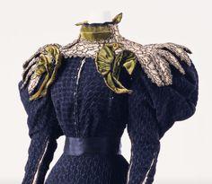 "ephemeral-elegance: "" Bouclé Silk Day Dress, ca. 1895 Gustave Beer """