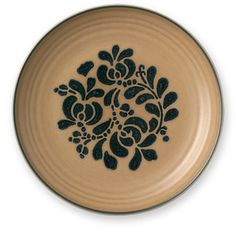 Folk Art Dinner Plate. The Folk Art design illustrates the simplicity of an earlier time. The early salt-glazed pottery made by Pfaltzgraff were the inspiration for the Folk Art collection. $9.99 @ http://www.pfaltzgraff.com/folk-art-dinner-plate/500490,default,pd.html