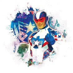Marvel Rising: Secret Warriors Patriot Marvel Captain America, Ms Marvel, Marvel Heroes, Marvel Comics, Detective, Marvel Cinematic Universe, Dc Universe, Secret Warriors, Hero Time