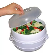 Trademark 2-Tier Microwave Steamer Food Cooker, As Seen On TV