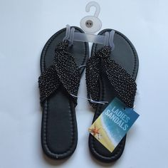 Black Sandals Beautiful black sandals with a slight heel. Brand new! Size large (8/9) Shoes Sandals