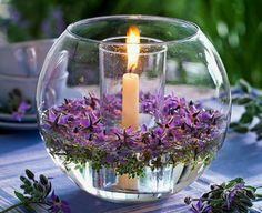 Centerpieces With Orchids And Floating Candles Video Tutorial Purple Wedding, Wedding Flowers, Candle Centerpieces, Winter Centerpieces, Centerpiece Ideas, Deco Floral, Floating Candles, Floating Flowers, Deco Table