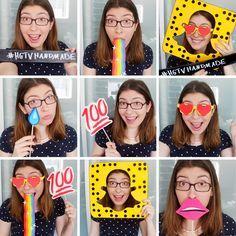 DIY Snapchat-Inspired Photobooth Props   Karen Kavett