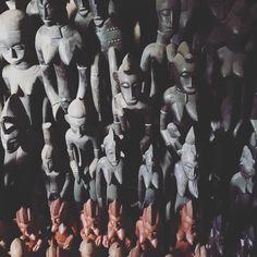 Ivoirian wooden sculptures