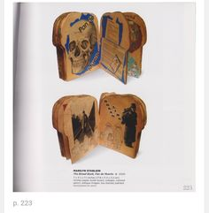 Awesome skull handmade book, also reminds me of a loaf of bread shape when closed. #handmade #book #skull