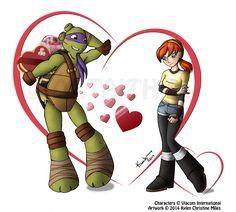 Donatello x April - Valentine by Artaith-21.deviantart.com on @deviantART