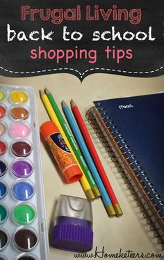 Frugal living back to school shopping tips