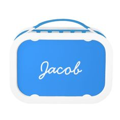 Shop Personalized lunchbox for boys Handwritten Text, Back To School Gifts, Make Your Own, How To Make, Boy Blue, Kid Names, Cute Gifts, Colorful Backgrounds, Lunch Box