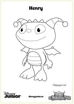 henry el monstruo feliz henry imprime y colorea page 001 Dibujo De La Doctora Juguetes Dibujos Disney Para Colorear
