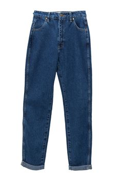 Super high waisted, super great quality vintage style mom jean - the exact   piece of denim you need if you like tucking your shirts in. A gorgeous   medium wash to pair with slides and a big cream-colored cardigan.Recommend   taking a size upDesigned in Australia by ROLLA'S.      * Made in China