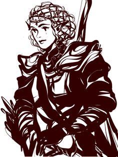 Aranfinwean queen - Galadriel in armor