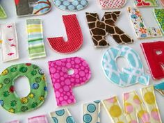 Make your own fabric alphabet free template download fabrics make room in your fabric stash for fresh funky and new fabrics by using up pronofoot35fo Image collections