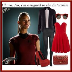 Uhora: The Red Lieutenant Movie Outfits, Funky Outfits, Casual Cosplay, Disneybound, Star Trek, Dress Up, Fantasy, Inspired, Watch