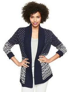 Fair Isle open-front cardigan | Gap