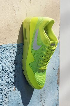 Fan of Flyknit? The Nike Air Max 1 Ultra just got outfitted with a lightweight, sock-like fit. The cored-out sole feels light as air, and the neon Volt Unlimited colorway adds energy to your everyday. Shop the new Air Max 1 Ultra Flyknit now.