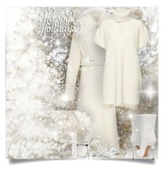 """""""Winter White"""" by falticska-cerasella ❤ liked on Polyvore featuring Vilshenko, French Connection, Casadei, Icz Stonez, Guerlain and Chantecaille"""