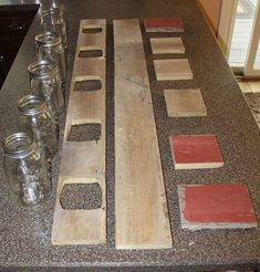 Old Barn Wood Projects | ... Mason Jar Centerpiece From Old Barn Wood Or Pallets :: Hometalk