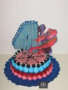 Resultado de imagen de tarta de chuches spiderman