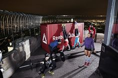 Reebok took fitness to new heights with a CrossFit WOD at the top of the Empire State Building, featuring the 2011 Fittest Man and Woman on Earth, R Reebok Crossfit, Empire State Building, Mens Fitness, Gym Equipment, Workout, Sports, Women, Places, Top