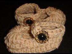 Crochet Mary Jane Baby Slipper .  I'm just beginning to crochet and these came out stinkin' cute! My friend loved them!