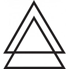 Double triangle, upside down.