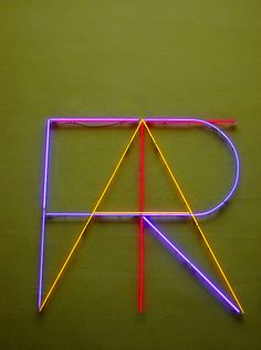 lovely thin neon typography