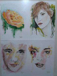 BERNERARTES | RETRATOS quatro faces em aquarela