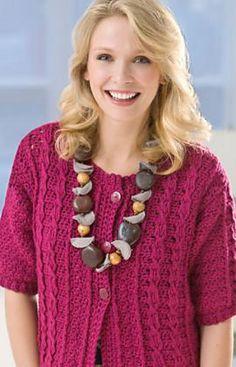 Ravelry: Cabled Crochet Cardigan pattern by Kimberly K. McAlindin