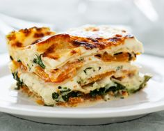Squash and Broccoli Rabe Lasagna. This vegetarian revelation balances the meaty sweetness of butternut squash with bitter broccoli rabe and a creamy sauce. Vegetarian Main Dishes, Vegetarian Recipes, Cooking Recipes, Lasagna Recipes, Veggie Lasagna, Homemade Lasagna, Cheese Lasagna, Vegetarian Lasagne, Casserole Recipes