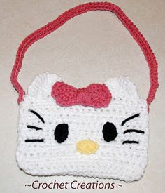 Free Crochet Hello Kitty purse Pattern.