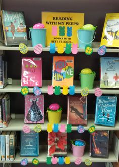 Reading With My Peeps - Books With Best Friends - Library Display