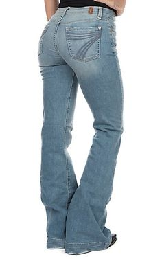 7 For All Mankind Women's Desert Heights Dojo Original Trouser Jeans Rodeo Outfits, Western Outfits, Jean Outfits, Western Wear, Casual Outfits, Cute Outfits, Casual Dresses, Shoes With Jeans, Jeans And Boots