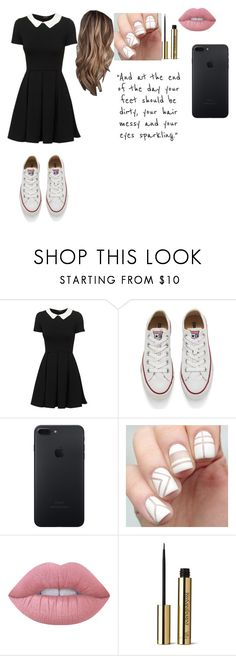 """You're a sky full of stars⭐"" by ekat160 ❤ liked on Polyvore featuring Converse, Lime Crime and Yves Saint Laurent"