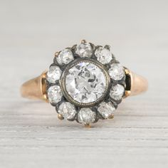 Image of 1.07 Carat Antique Victorian Engagement Ring