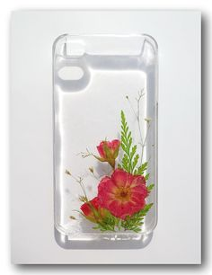 Handmade iPhone 4/4s case Resin with Real Flowers by Annysworkshop, $18.00