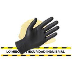 Guantes de nitrilo negro seguridad industrial feryseg sas
