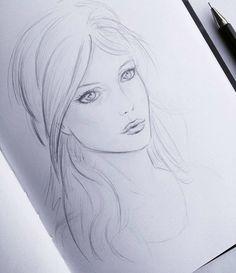 Skizze weibliches Gesicht