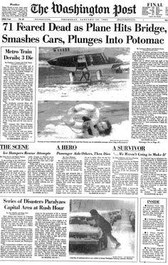 Air Florida Flight 90   Air Florida crash: Washington Post coverage from Jan. 14, 1982 - The ...