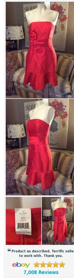 Kate Spade Justina Strapless Dress Size 2 Maraschino NWT $398 | eBay http://www.ebay.com/itm/Kate-Spade-Justina-Strapless-Dress-Size-2-Maraschino-NWT-398-/222555940731?hash=item33d15e277b